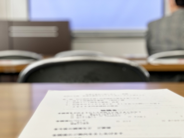 試験の写真