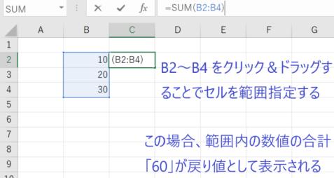 セルを範囲指定して数式を入力する方法